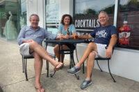 Photo of Blake Chancey, Juli Newton-Griffith, and Scott Siman